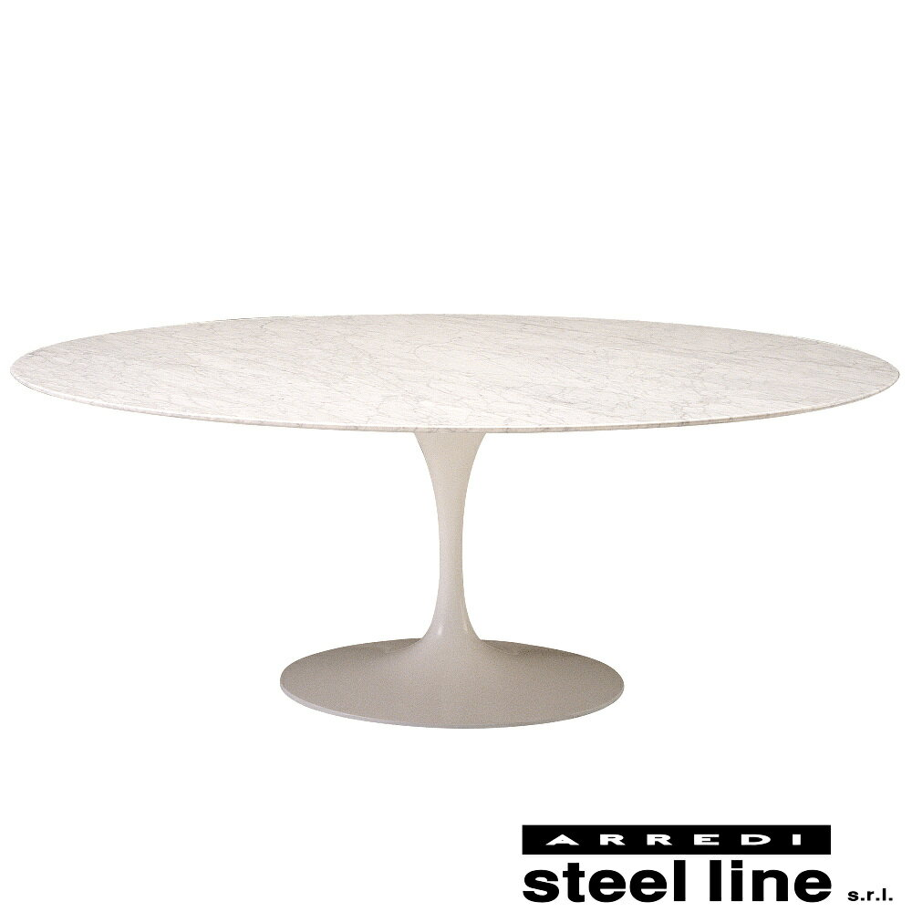 《100%MADE IN ITALY》エーロ・サーリネン チューリップテーブル 楕円LOWタイプスティールライン社DESIGN900