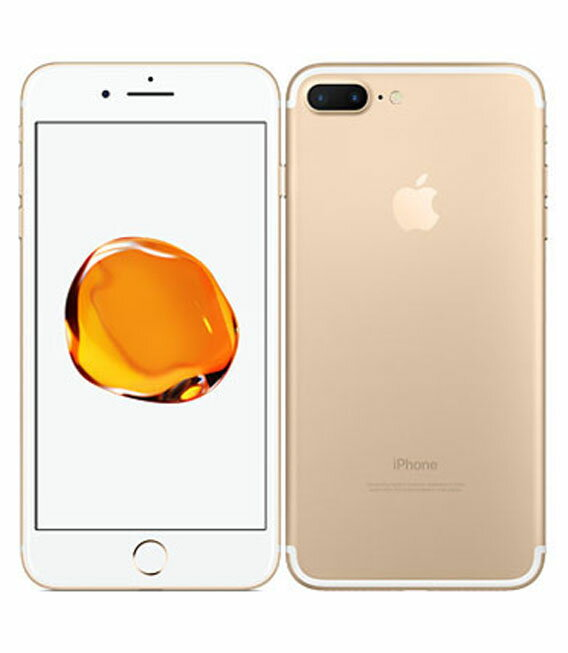 【中古】【安心保証】 au iPhone7Plus 256GB ゴールド