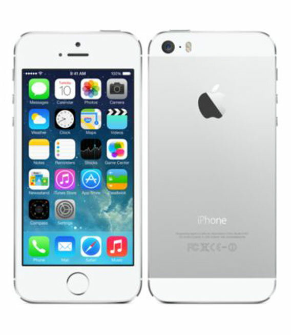 【中古】【安心保証】 au iPhone5s[32GB-a] シルバー