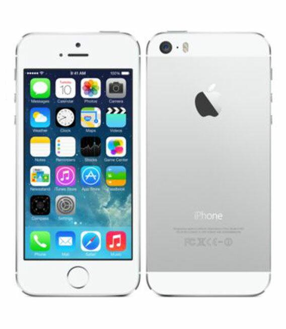 【中古】【安心保証】 au iPhone5s[64GB-a] シルバー