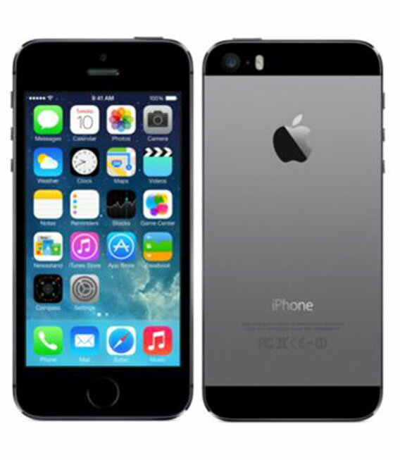 【中古】【安心保証】 SoftBank iPhone5s[32GB-s] スペースグレイ