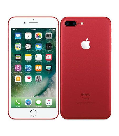 【中古】【安心保証】 docomo iPhone7Plus[256GB] レッド