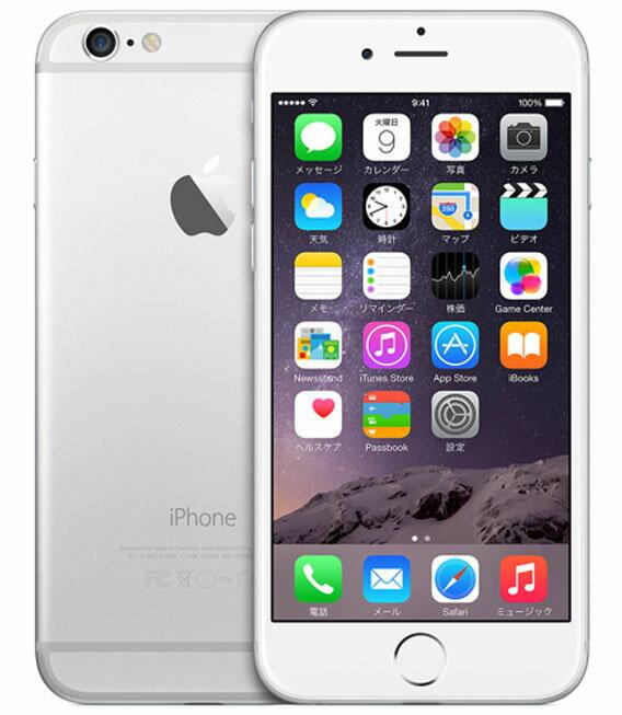 �中�】�安心�証】 au iPhone6[128GB] シル�ー