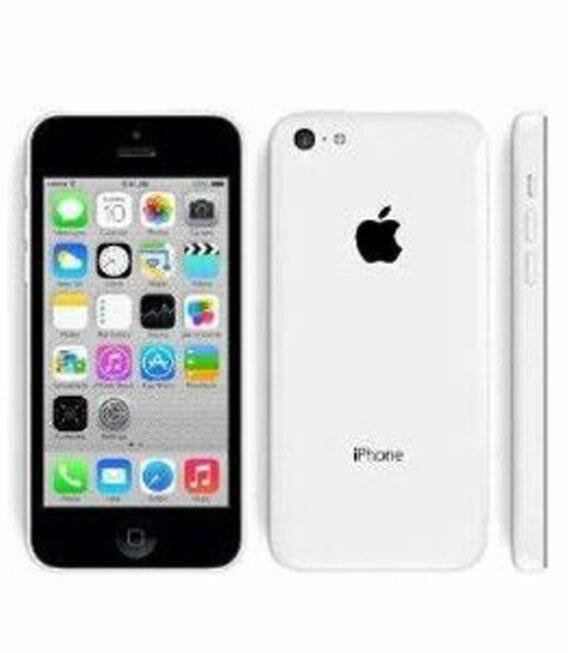 【中古】【安心保証】 au iPhone5c[16GB-a] ホワイト