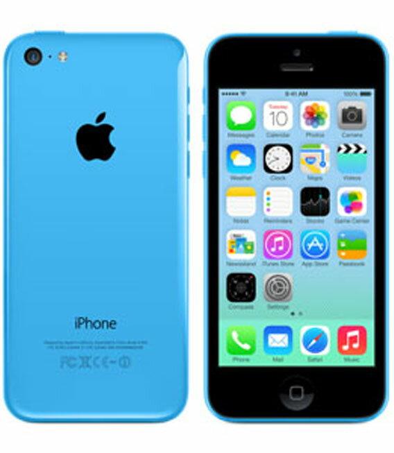 �中�】�安心�証】 au iPhone5c[32GB-a] ブルー