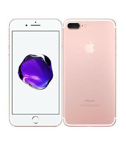 【中古】【安心保証】 au iPhone7Plus[256GB] ローズゴールド