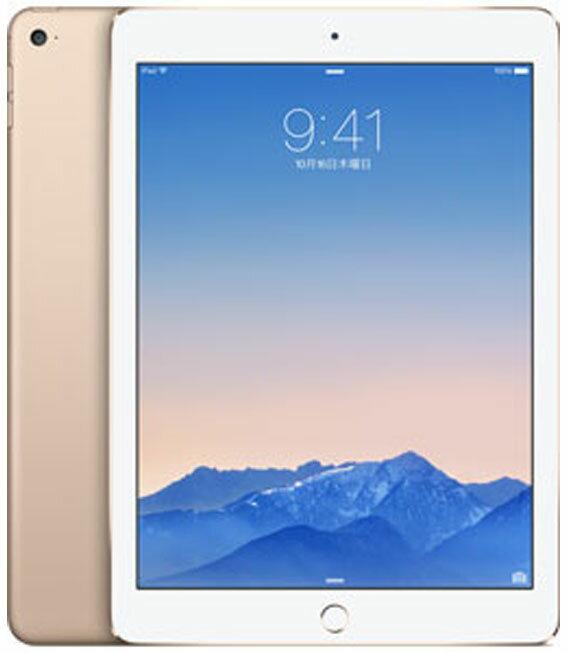 【中古】【安心保証】 docomo iPadAir2_6[4G16GB] ゴールド