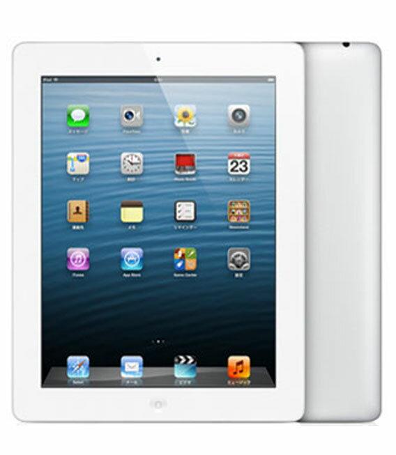 【中古】【安心保証】 au iPadRetina_4[セルラー16GB] ホワイト