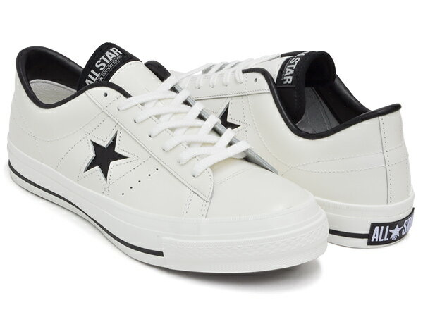 CONVERSE ONE STAR J【コンバース ワンスター メイド イン ジャパン 日本製】WHITE / BLACK