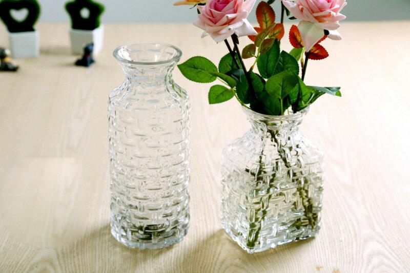 【送料無料】【クリスタルガラス】 花瓶 ガラス シンプル おしゃれ かわいい ギフト プレゼント 女性 デザイン 高級 HM-1218