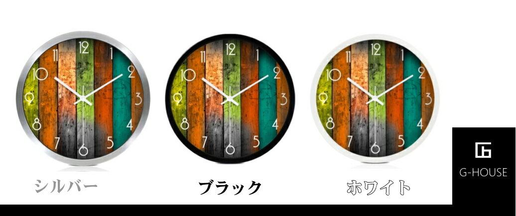 【送料無料】【時計】【掛け時計】【Lサイズ】大きいサイズ 選べるサイズ3タイプ   カラーバリエーション3色(ブラック、ホワイト、シルバー) プレゼント ギフト かっこいい おしゃれ  HM-0526
