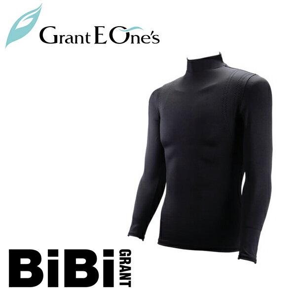 メンズハイネックエレクトパンプ10分袖 ブラック【Grant E One's】【BiBi Grant】