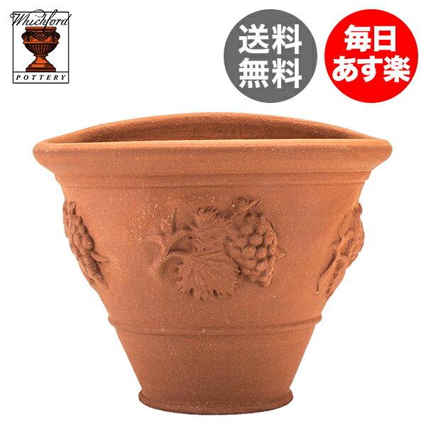 ウィッチフォード ポタリ― Whichford Pottery テラコッタ 植木鉢 ワイン ウォールポット 208 Vine Wallpot ウィッチフォード ポッタリ―