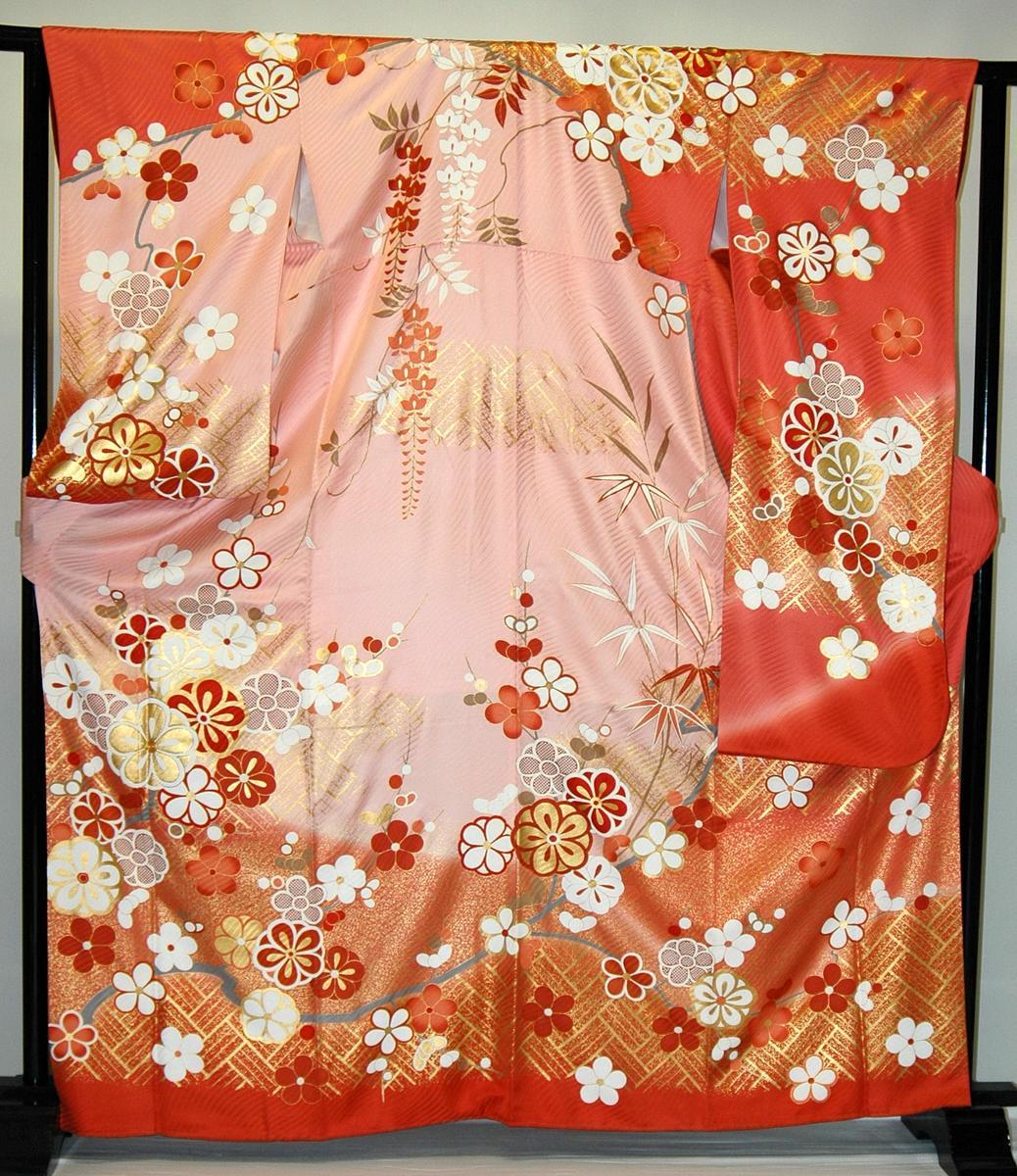 振袖・レンタル【赤・ピンク・赤紫系】【RS706】標準/L寸/7号/9号/11号/13号