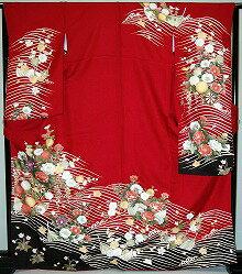 振袖・レンタル【赤・ピンク・赤紫系】【RS723】標準/L寸/7号/9号/11号/13号