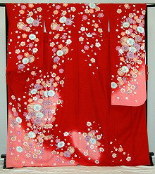 振袖・レンタル【赤・ピンク・赤紫系】【RS930】標準/L寸/9号/11号/13号/15号