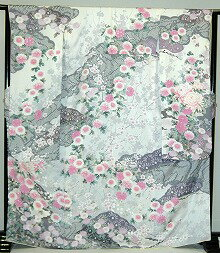 振袖・レンタル【青・青紫・緑系】【白・薄色系】【RS815】標準/L寸/7号/9号/11号/13号