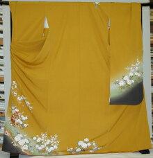 振袖・レンタル【黄色・淡色系】【RS952】ワイドサイズ/ゆったり/大きい/幅広/3L/4L/17号/19号/21号/23号