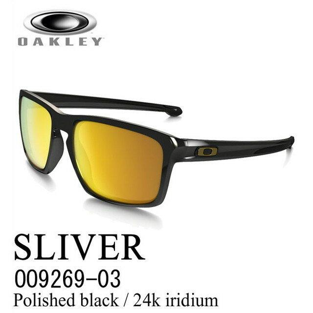 オークリー OAKLEY サングラス SLIVER【スリバー アジアンフィット】Polished black / 24k iridium OO9269-03