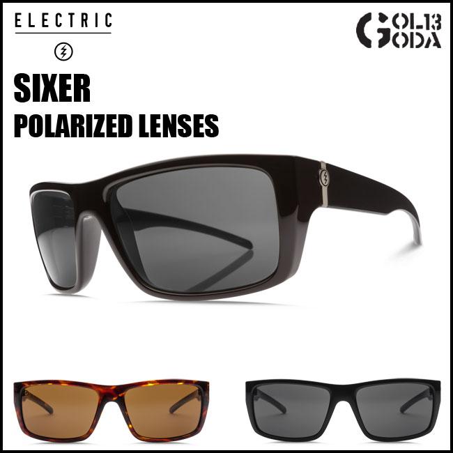 サングラス ELECTRIC エレクトリック SIXER SX18 GLOSS BLACK / TORTOISE M1 POLAR 偏光レンズ ポーラレンズ メンズ
