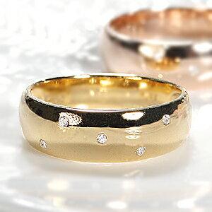 今日激安新作 ファッション ジュエリー アクセサリー レディース 指輪 ダイヤ リング ダイヤモンド リング ゴールド ホワイトゴールド ピンクゴールド イエローゴールド ドット 水玉 甲丸 重ねづけ 送料無料 刻印無料 品質保証書付 4月 誕生石