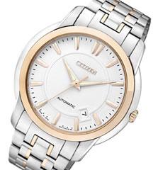 CITIZEN (シ�ズン) NB0024-54A 自動巻� オートマ�ック ゴールド×シル�ー メタルベルト メンズウォッ� 腕時計