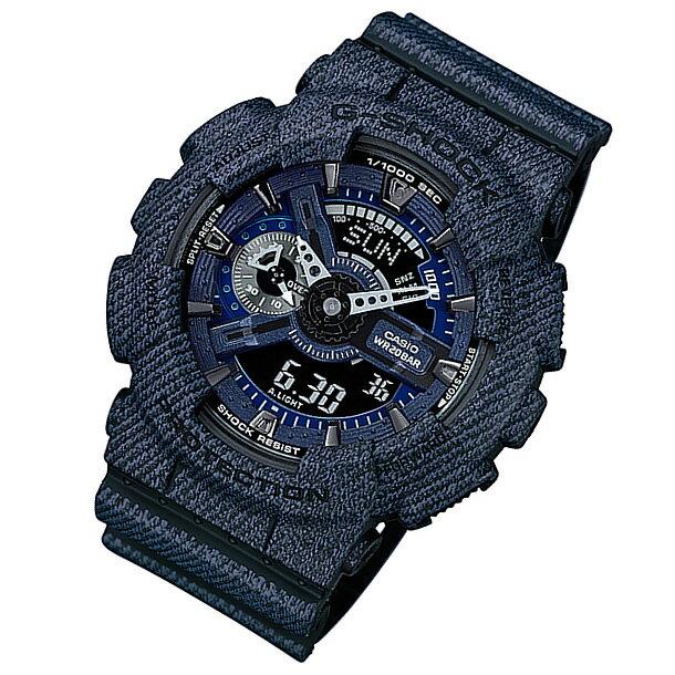 CASIO G-SHOCK(カシオ Gショック) GA-110DC-1A/GA110DC-1A Pattern Series/パターンシリーズ DENIM'D COLOR/デニムカラー アナデジコンビ 速度計測 メンズウォッチ 腕時計