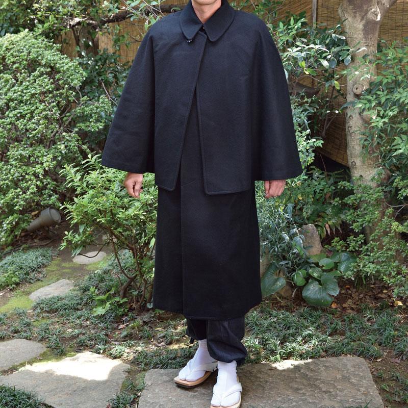 ウールとんびコート【日本製のインバネスコート】