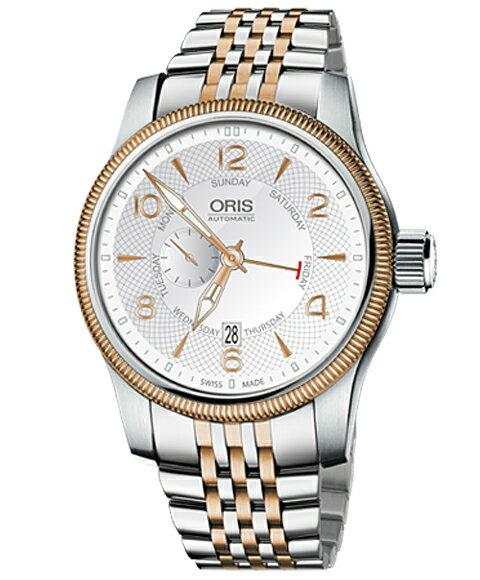 オリス ビッグクラウン スモールセコンド ポインターデイ 74576884361M メンズ 腕時計 ORIS