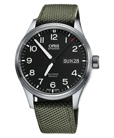オリス ビッグクラウン プロパイロット 75276984164DOL(テキスタイル/オリーブ)  メンズ 腕時計 ORIS Big Crown