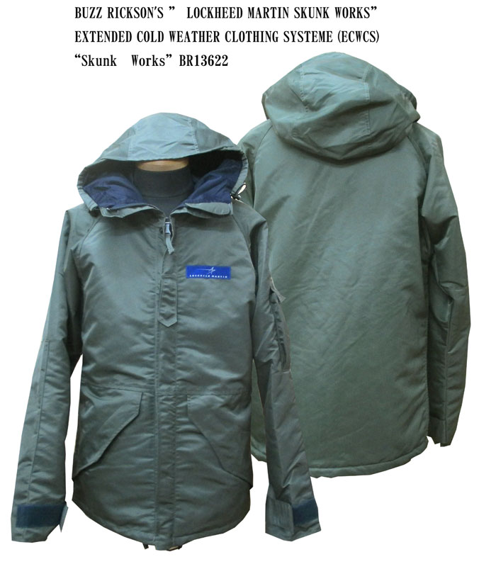 "BUZZ RICKSON'S バズリクソンズLOCKHEED MARTIN SKUNK WORKSEXTENDED COLD WEATHER CLOTHING SYSTEME (ECWCS) ""Skunk Works""2016年生産BR13622-16AWフライトジャケット ミリタリー メンズ 男性 新品「NC」"