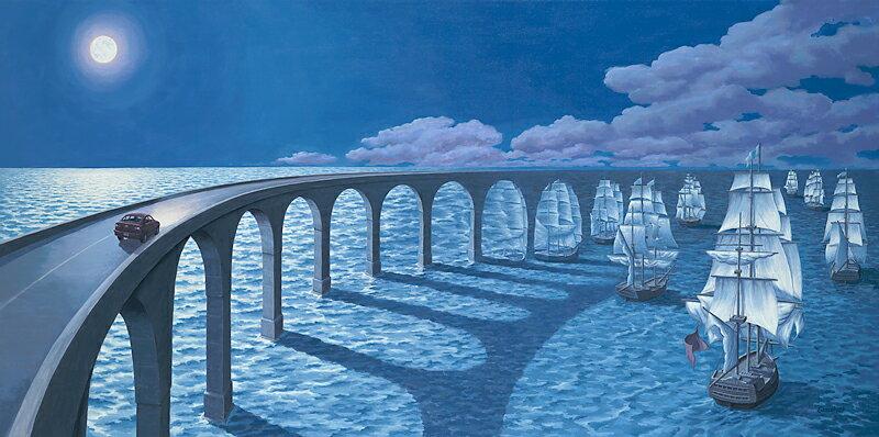 ロブ・ゴンサルヴェス 「Toward the Horizon」Rob Gonsalves ジグレー版画選べる新品額付 国内 送料無料