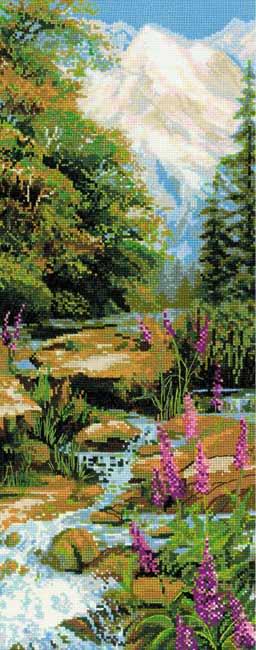 メール便送料無料 クロスステッチ 刺繍キット RIOLIS マウンテンリバー Mountain River