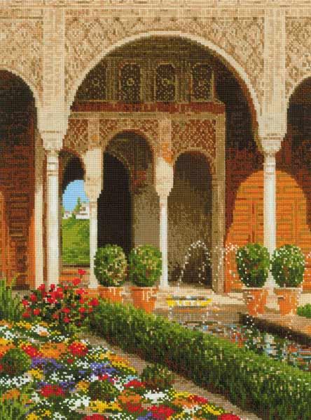 メール便送料無料 風景のクロスステッチ 刺繍キット RIOLIS パレスガーデン The Palace Garden