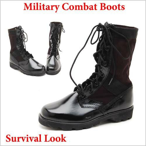 【新商品】Army Military Combat Boots, jungle boots  本革,ミリタリーブーツ ミリタリー ウォーカー ブラック, カーキ, ベージュ サバイバルゲーム ミリタリーブーツ24.5cm~28,0cm タクティカルブーツ