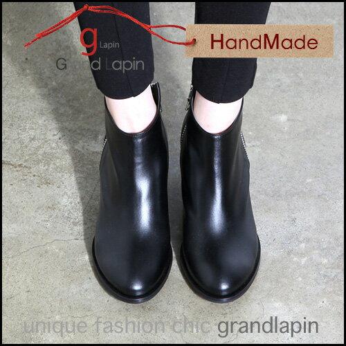 21.0cm,21.5cm, 22.0cm, 22.5cm,26.0cm,  ブーツ 本革 キップスキン, ブーツ 26cm レディース 小さいサイズ ブーツ 21.0 ブーツ 大きいサイズ21.5cm レディース プレミアムブーツ, ブーツ ハンドメイドパンプス ヒール高さ6.0cm, 8.0cmgrandlapin グランラパン
