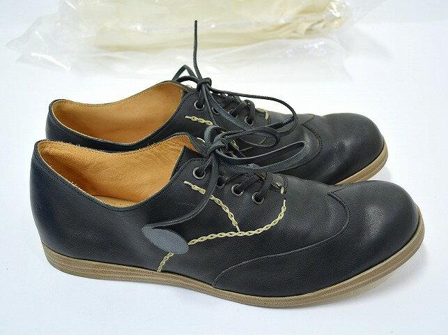 【新品】SAK (サク) Onepiece Calf Leather Shoes Wingtip (Black) ワンピースカーフレザー ウイングチップシューズ  RYUSAKU HIRUMA 41
