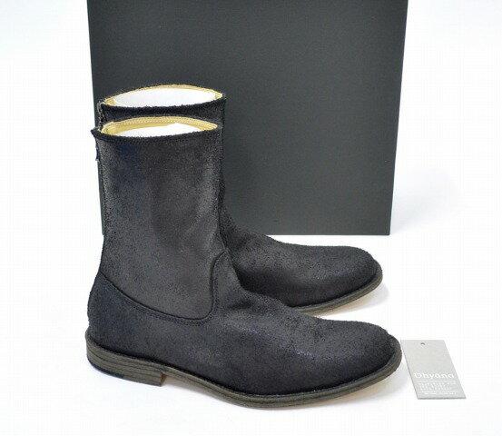 【新品】 Dhyana (ディアーナ) BACK ZIP LEATHER BOOTS バックジップレザーブーツ 2 26cm-26.5cm BLACK 14AW D14AW-201 シューズ 靴