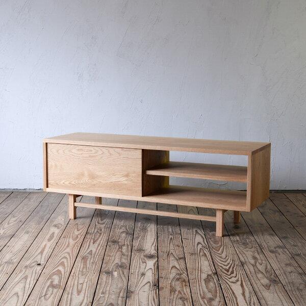 無垢家具 北欧家具 無垢材 シンプル テレビボード AVボード ナチュラル テレビ台 収納 抽斗 引き出し ウォルナット オーク リビング ダイニング  天然木 収納家具 大容量 高品質 オープン収納 | AVボード W1200 (oak)