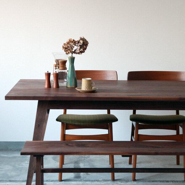 無垢家具 北欧家具 無垢材 シンプル ウォルナット リビング ダイニング 天然木 高品質   Work Table - wedge - WALNUT