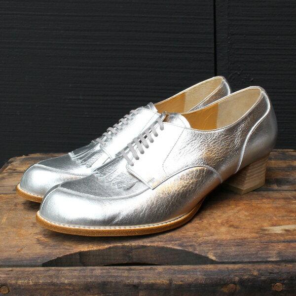 【送料無料】chausser/ショセ C2235キルト付きパンプスシルバー ground 靴 