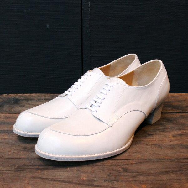 【送料無料】chausser/ショセ C2235キルト付きパンプスホワイト|ground|靴|