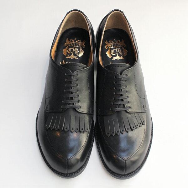 【送料無料】chausser/ショセ C2235キルト付きパンプスブラック ground 靴 