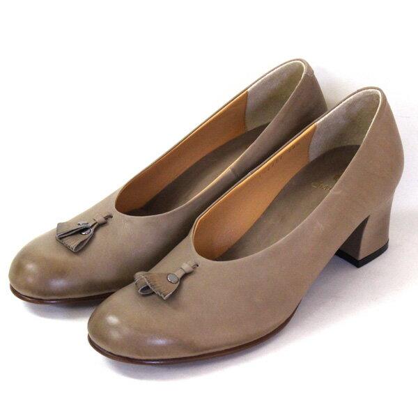 【送料無料】chausser/ショセ C2222サケットモチーフ付きパンプスグレイ ground 靴 