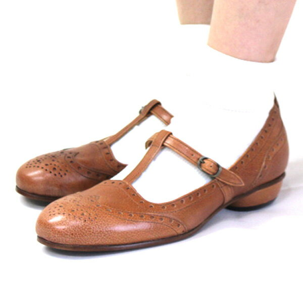 【送料無料】chausser/ショセ C2217Tストラップデザインパンプス ground 靴 