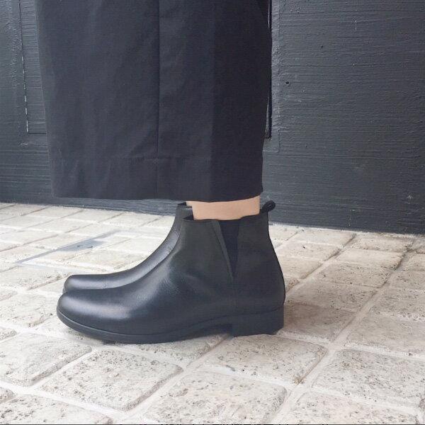 【予約】【12月下旬・2018年2月入荷予定】【2017秋冬】TRAVEL SHOES by chausser(トラベルシューズバイショセ) TR-005 晴雨兼用サイドゴアブーツ ブラック|ground|靴|レイン|