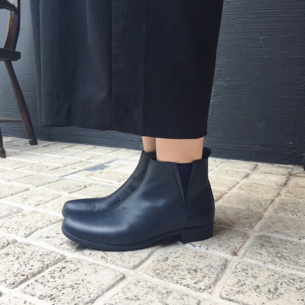 【送料無料】TRAVEL SHOES by chausser(トラベルシューズバイショセ) TR-005 晴雨兼用サイドゴアブーツ ネイビー|ground|靴|レイン|