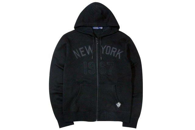 ●POLO RALPH LAUREN CITY LOGO ZIP HOODIE (NEW YORK: BLACK)ポロラルフローレン/ZIPパーカー/黒
