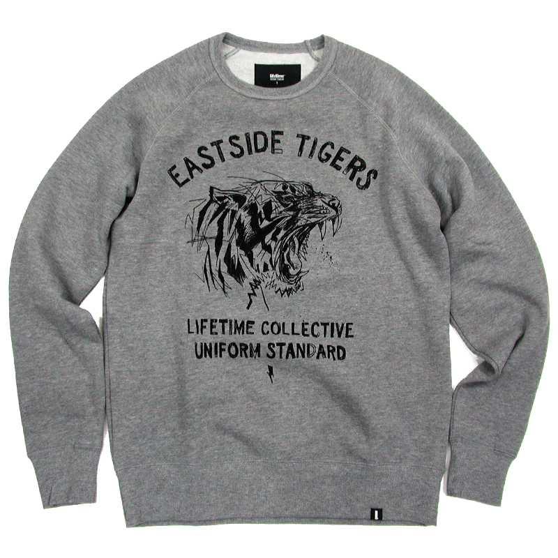 Lifetime Collective(ライフタイム・コレクティブ) EASTSIDE TIGERS Crew Sweat Shirt