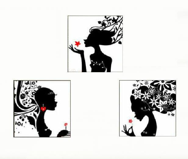 クロスステッチ 刺繍キット 3画 花少女 (DMC刺繍糸) 図柄印刷